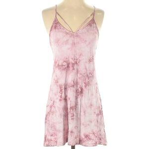 American Eagle pink tie dye bohemian dress in S